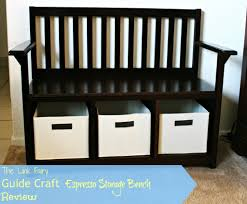 Living Room Bench With Back Guide Craft Espresso Storage Bench Review