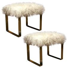 mongolian lamb vanity stool ikea with metal legs for home furniture ideas