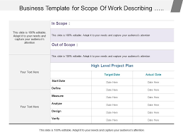 design statement of work business template for scope of work describing business case