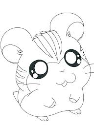 Cute Hamster Coloring Pages At Getdrawingscom Free For Personal