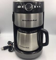 kitchenaid coffee maker thermal 12 cup machine contour silver rr kcm1203cu