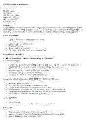 Call Center Floor Manager Sample Resume Stunning Call Center Resume Mkma