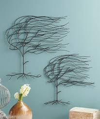 set of 2 whispering willow tree metal wall art hangings blowing in the wind new ebay on metal wall art trees willow with set of 2 whispering willow tree metal wall art hangings blowing in