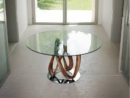 infinity glass dining table alveena casa intended for round tables ideas 9