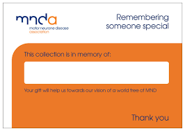Donation Envelope Donation Envelope Order Form Mnd Association