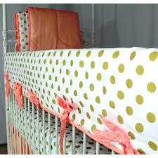 c sunset papaya and gold dots ruffle baby bedding shades crib polka dot set