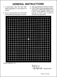 Amsler Grid Recording Charts Black With White Lines 250
