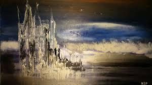 le-chateau-d-argent-et-son-reflet.jpg Peinture par Nicole De Pauw |  Artmajeur