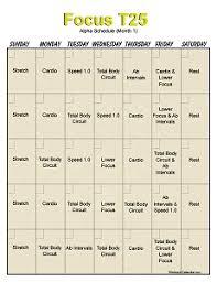 t25 workout calendar month 2 t25 workout calendar