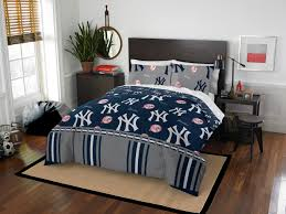 comforter set queen new york yankees mlb 5 pc bedding sheets blue bed in a bag