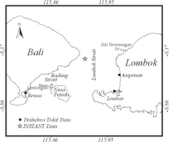 Bali Tide Chart November 2018 Chart Of The Lombok Strait And The Location Of Observed Data