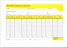 monthly expense report template excel monthly expense report template charlotte clergy coalition