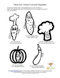 Small Picture Printable Orange Vegetables and Vitamin A Coloring Sheet
