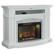 scott living 52 5 in w 5100 btu white wood corner or flat wall infrared