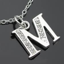 Letter M Necklace Silver Initial Typewriter Key Charm Necklace Design Buy Letter M Necklace Silver Initial Necklace Initial Charm Necklace Design