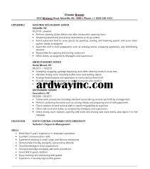 resume sample for restaurant server restaurant server resume sample resume builder