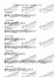 Violin Music Scales Chart Violin Scales Chart Grade 3 Ln For Solo Instrument Solo Violin By Andrew Hsu Sheet Music Pdf File To Download