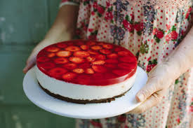 White Chocolate Mousse And Strawberry Cake Wholefood Cooking