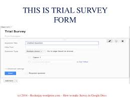 How To Make A Survey For Your Business Using Google Docs