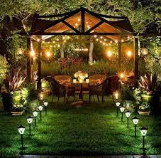 Outdoor Gazebo Lighting Mesmerizing Backyard Future Home Improvements Pinterest Backyard Gazebo