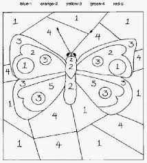 These coloring pages offer wonderful opportunities for artistic expression and fine motor practice. Color By Number Sheets Butterfly Coloring Page Kindergarten Colors Numbers For Kids