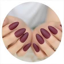 Pre Designed Nails Amazon Com 24 Pcs Light Pink Matte Pre Designed Nail