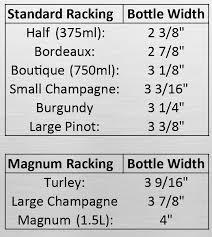 Wine Magnum Size Chart Bottle Sizes Ultra Wine Racks Cellars