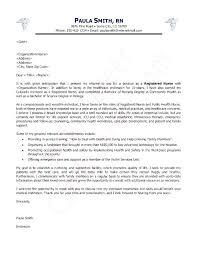 Nurse Sample Cover Letter Sample Cover Letter For Nurse Resume Cover