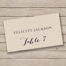 Printable Place Card Template Escort Card Template Tent