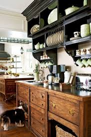 looks like an old fashioned country mansion plantation kitchen