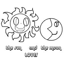 Disegno Di Sole E Luna Da Colorare Acolorecom