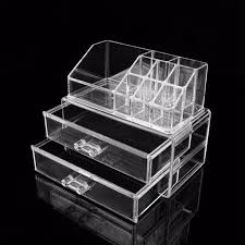 uk 2 drawer cosmetic organizer clear acrylic makeup