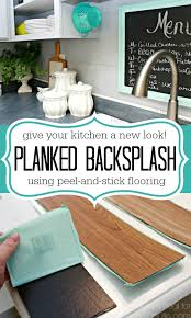 Tile And Backsplash Ideas Beauteous Inexpensive Backsplash Idea Faux Plank Wall Mom 48 Real