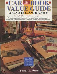 The Car Book Value Guide And Bibliography Books Hobbydb