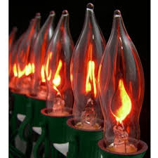 3pc e12 flickering flame candelabra light bulbs 3w realistic candle flicker c7