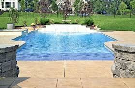 rectangular pool designs with spa. Rectangle Pool Designs Rectangular With Spa Modified Tiled Beach Entry .