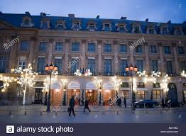 paris france luxury hotel the ritz lighting decorations place vendome