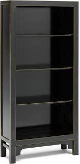 large chinese bookcase black