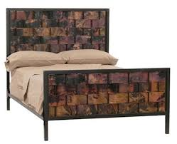 wood and iron bedroom furniture. Iron And Copper Headboard Wood Bedroom Furniture D
