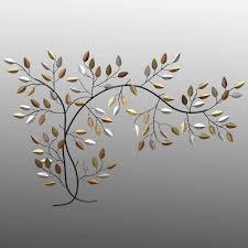 simple metal leaf wall art