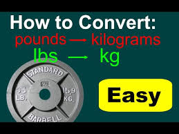 Converting Lbs To Kg Lbs To Kg Conversion Conversions Of Pounds To Kilograms