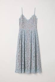 <b>Lace dress</b> - <b>Light blue</b> - Ladies   H&M IN