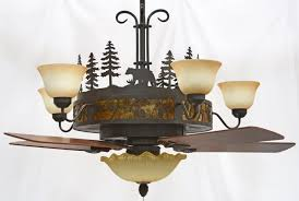 pinecones chandelier ceiling fan
