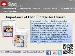 Importance Of Proper Storage Of Food
