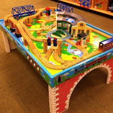 this thomas the train table top would look better at home instead of at barnes