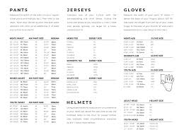 Answer Racing Size Chart Mx Riding Gear And Accessories