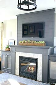 diy gas fireplace insert a gray fireplace with herringbone tile diy gas fireplace insert installation