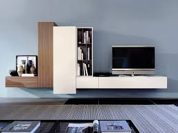 contemporary style sectional wall mounted wooden tv wall system graphos plus sectional storage wall