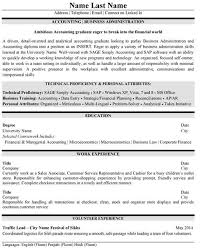Accounting Student Resume Sample Example Top Accounting Resume
