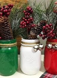 Mason Jar Decorations For Christmas Christmas Mason Jar Ideas Christmas Mason Jar Centerpiece 55